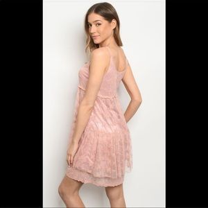 NWT-Mauve Babydoll lace dress.